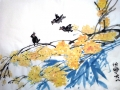Jasmine and Bamboo with Crows by Sheila McCormack
