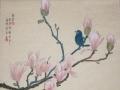 Magnolia Blue Bird by Angela Reich