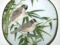 Birds on Bamboo in Winter by Sheila McCormack