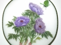 Purple Peonies with Butterfly by Sheila McCormack
