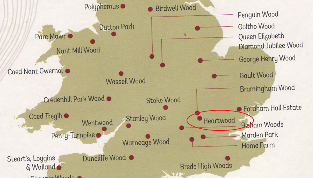 Heartwood map
